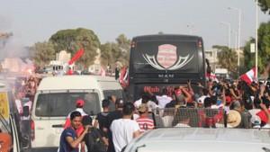 وصول النادي الافريقي الى جربة وسط حضور جماهيري كبير
