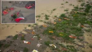 الفيضانات تسحب مئات الجثث من ضحايا جائحة كورونا في الهند