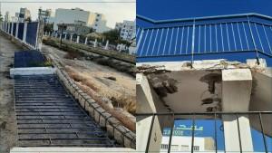 صفاقس : أشغال صيانة ممر المترجلين بطريق المهدية ... الصفقة تسقط في الماء