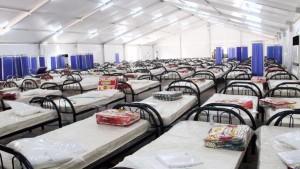تركيز المستشفى الميدانيالقطري بولاية بن عروس