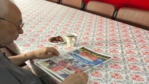 مذيوب ينشر صورة للغنوشي في منزله