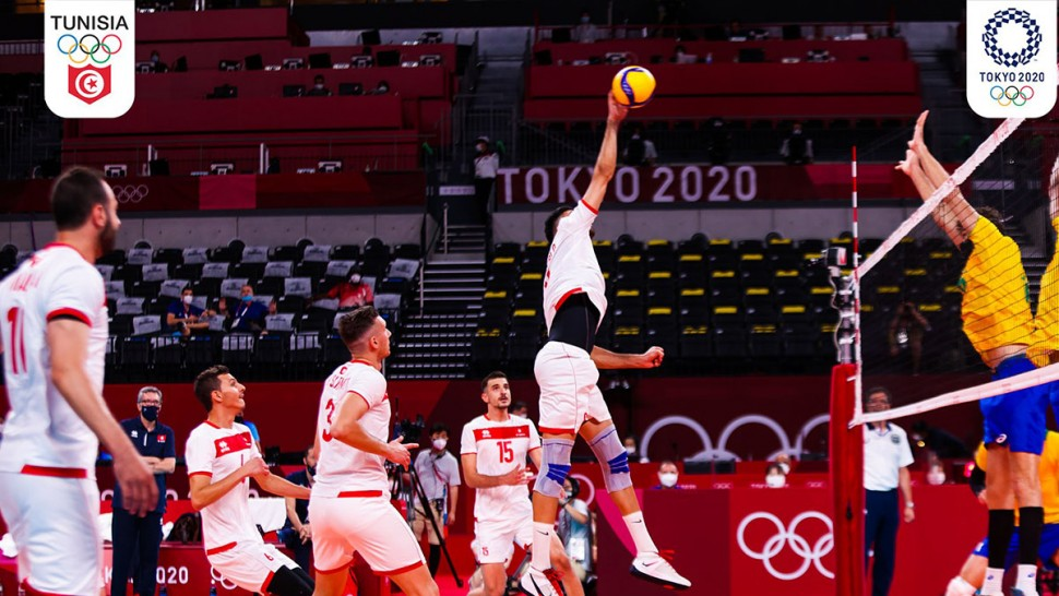 أولمبياد طوكيو : المنتخب التونسي للكرة الطائرة ينهزم أمام البرازيل ب3 اشواط دون رد