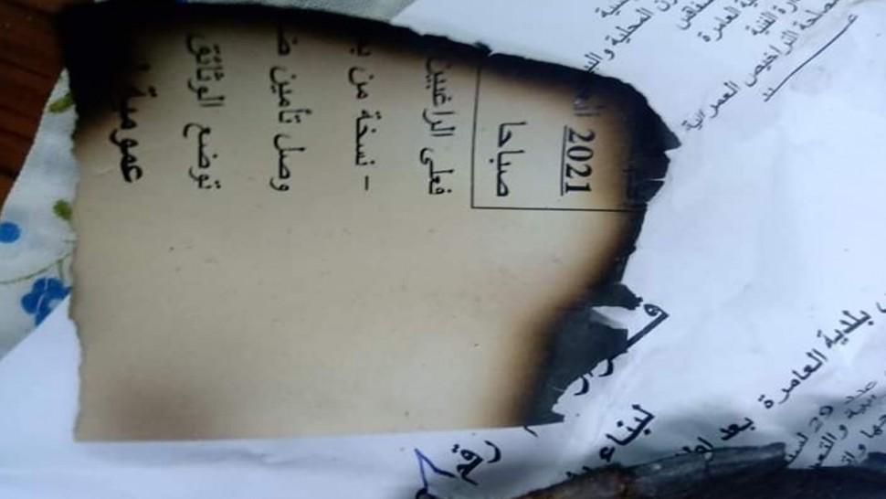 رئيس بلدية العامرة : الوثائق التي تم حرقها لا تحمل توقعي و رفعت قضية ضد هؤلاء