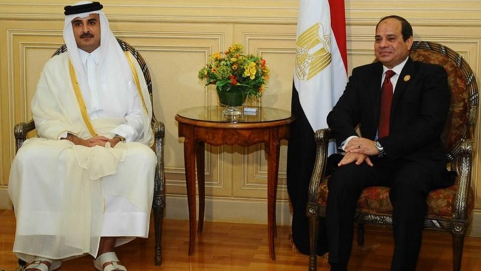 لأول مرة منذ سنوات : السيسي يلتقي أمير قطر الشيخ تميم