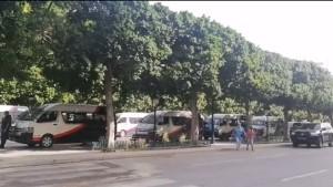 شارع الحبيب بورقيبة : تعزيزات أمنية كبيرة بعد دعوات للتظاهر أمام المسرح البلدي