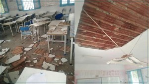 غلق المدرسة الابتدائية بالكرم لاخضاعها للمعاينة الفنية بعد حادثة سقوط جزء من سقف قاعة