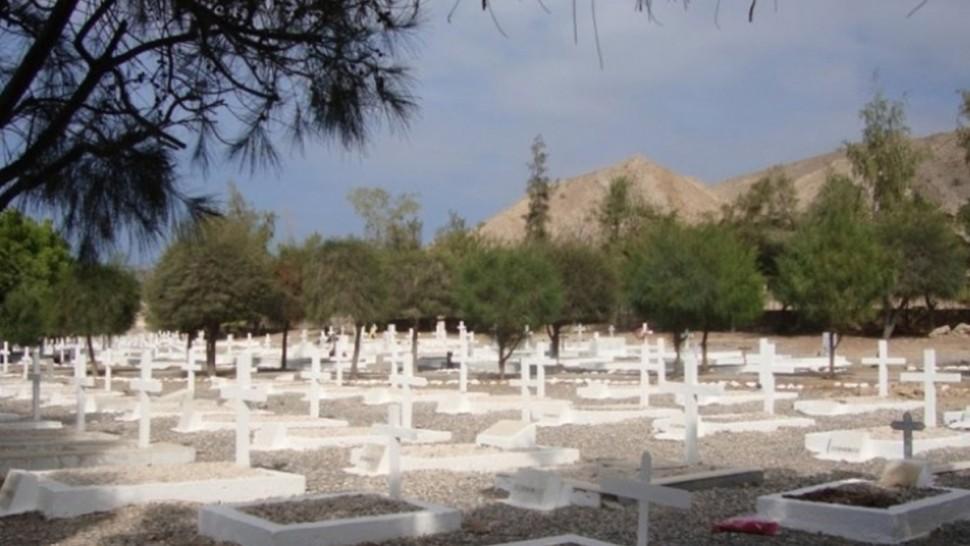 تخريب المقبرة المسيحية بمقرين