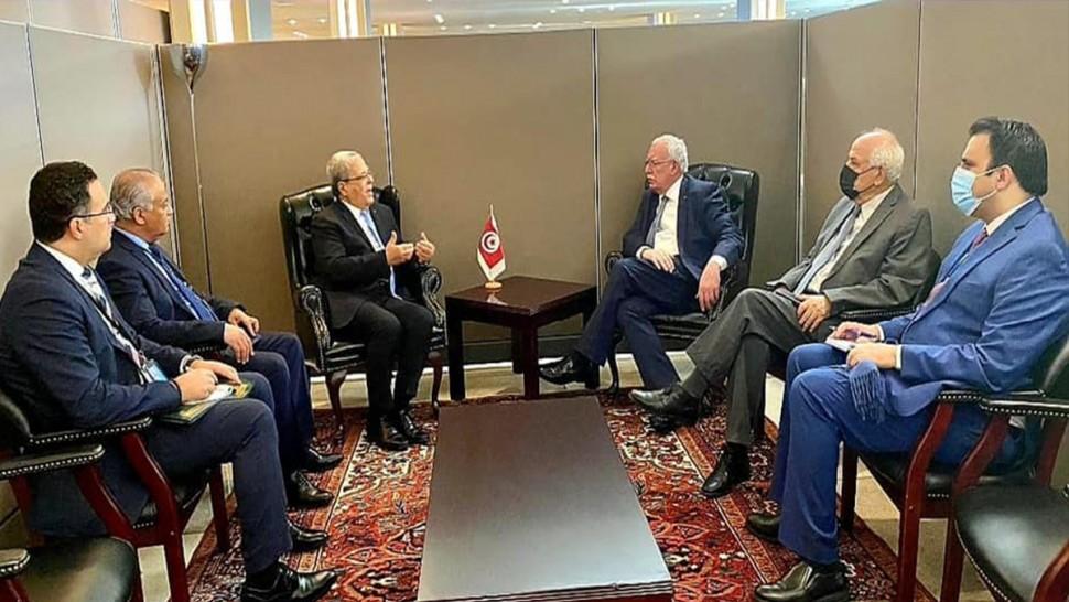 خلال لقائه بنظيره الفلسطيني ...الجرندي يجدد التأكيد على مواقف تونس الداعمة للقضية الفلسطينية