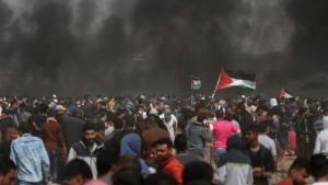 إصابة عشرات الفلسطينين في مواجهات مع الجيش الإسرائيلي
