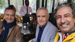 لطفي عبد الناظر و صلاح الدين الزحاف يزوران منصف خماخم في المصحة بباريس