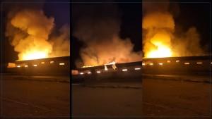 اندلاع حريق كبير بمصنعين في زغوان