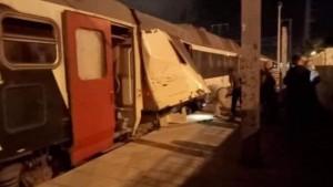 الأسباب الأولية لحادث اصطدام قطارين بمقرين..
