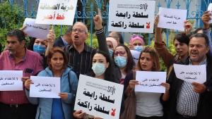 وقفة احتجاجية أمام نقابة الصحفيين للتنديد بالاعتداءات على الصحفيين