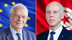 سعيّد لممثل الشؤون الخارجية بالاتحاد الأوروبي :  الدولة التونسية كانت على وشك السقوط