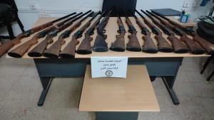 مدنين : الديوانة تحجز 14 بندقية صيد مهربة