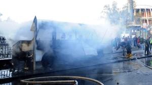دمشق : 13 قتيلا و 3 جرحى في تفجير إرهابي استهدف حافلة للجيش