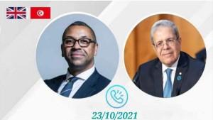 تطوّرات الأوضاع في تونس محور محادثة هاتفية بين الجرندي ووزير الخارجية البريطاني